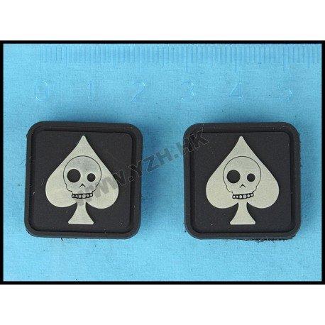 Emerson Patch 3D PVC As de Pique Squelette (Emerson) AC-EMBD5423 Patch en PVC