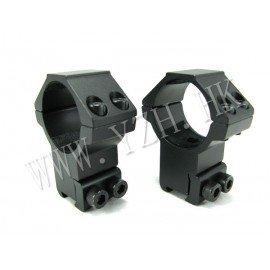 Emerson Emerson Set Anneaux Haut 25.4mm Noir pour rail 11mm AC-EMBD0834 Anneaux de montage