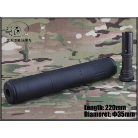 Emerson Silencieux AAC M4-2000 Deluxe 220mm Noir (Emerson) AC-EMBD0502 Silencieux & Adaptateur