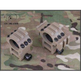 Emerson Medium Ring 25mm (Set di 2) con Triple Rail Desert (Emerson) AC-EMBD9168B Anelli di montaggio
