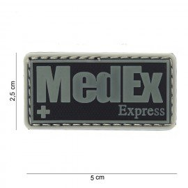 3D PVC patch Medex Express Black