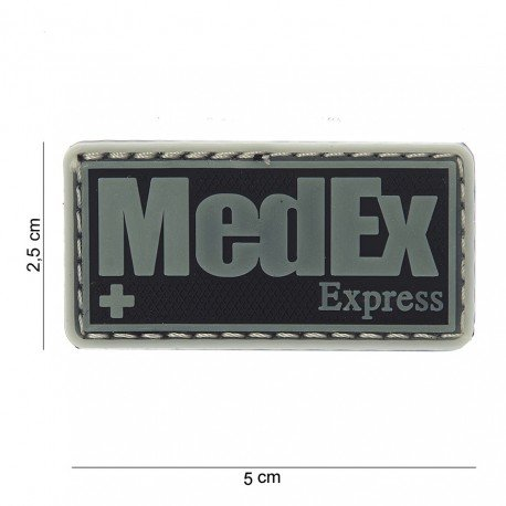 101 INC Patch 3D PVC Medex Express Noir & Phospho (101 Inc) AC-WP4441503712 Patch en PVC