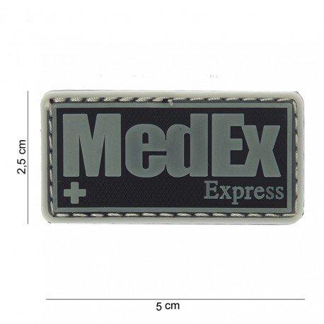 101 INC Patch 3D PVC Medex Express Noir & Phospho (101 Inc) AC-WP4441503712 Patch en PVC