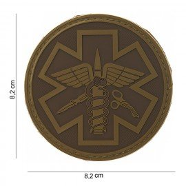 Patch 3D PVC Para Medic Coyote (101 Inc)