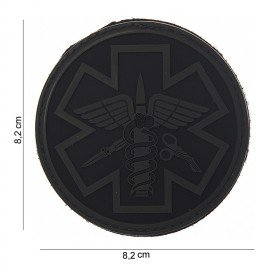 Patch 3D in PVC Para Medic Black & Grey (101 Inc)