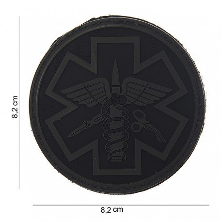 101 INC Patch 3D PVC Para Medic Noir & Gris (101 Inc) AC-WP4441503723 Patch en PVC
