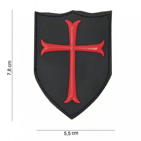 101 INC Patch 3D PVC Crusader Rouge & Noir (101 Inc) AC-WP4441003752 Patch en PVC