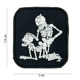 3D PVC Patch Two Skeletons Black (101 Inc)