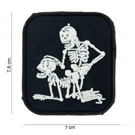 3D PVC Patch Two Skeletons Black (101 Inc)