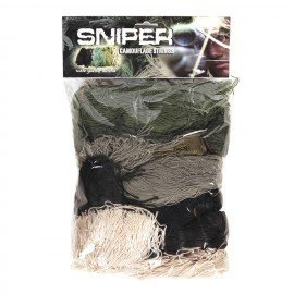 101 INC Ghillie Reparation / Set Fils Camouflage Sniper (101 Inc) AC-WP469272 Uniformes