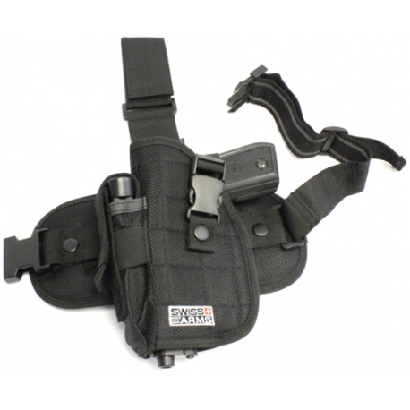 CYBERGUN Holster Cuisse Gaucher (Swiss Arms 603617) AC-CB603617 Gears Sacrifié