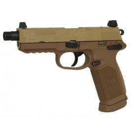 CYBERGUN Cybergun FN Herstal FNX-45 Culasse Mobile Métal Desert Gaz RE-CB200503 Pistolet à gaz - GBB