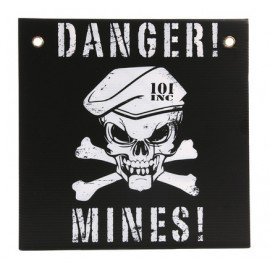 Gefahrenzeichen Mines Schwarz / Weiß (101 Inc)