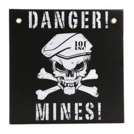 Panneau Danger Mines Noir / Blanc (101 Inc)
