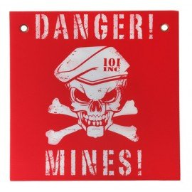 Warnschild Minen Rot / Weiß (101 Inc)