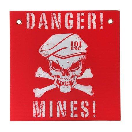101 INC Panneau Danger Mines Rouge / Blanc (101 Inc) AC-WP415142RED Accessoires