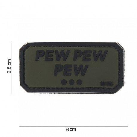 101 INC Patch 3D PVC Pew Pew Pew OD (101 Inc) AC-WP4441003769 Patch en PVC