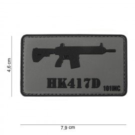 101 INC Patch 3D PVC HK417D (101 Inc) AC-WP4441303761 Patch en PVC