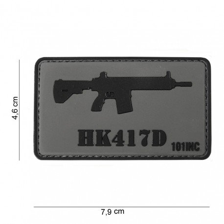 101 INC Patch 3D PVC HK417D (101 Inc) AC-WP4441303761 Patch en PVC