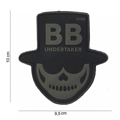 101 INC Patch 3D PVC Undertaker Noir & Gris (101 Inc) AC-WP4441803837 Patch en PVC
