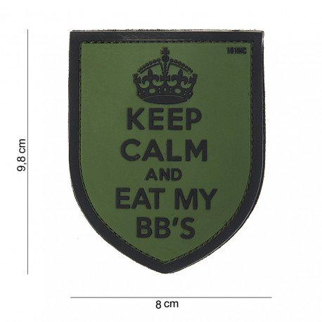 101 INC Patch 3D PVC Keep Calm OD (101 Inc) AC-WP4441803842 Patch en PVC