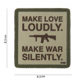 Patch in PVC Make Love Loudly Desert (101 Inc)
