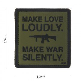 101 INC 3D PVC Patch Make Love Loudly OD (101 Inc) AC-WP444180384599A PVC Patch