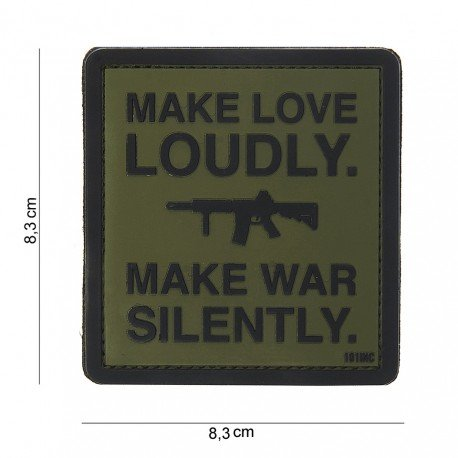 101 INC Patch 3D PVC Make Love Loudly OD (101 Inc) AC-WP444180384599A Patch en PVC