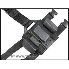 Emerson Plaque Cuisse Chargeur MP5 (x3) CQC Noir (Emerson) AC-EMBD2269 Poche Molle