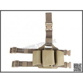 Emerson Plaque Cuisse Chargeur M4 (x3) CQC Désert (Emerson) AC-EMBD2268A Equipements