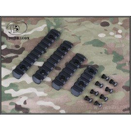 Rail (Set 4 piezas) Handguard Black (Emerson)