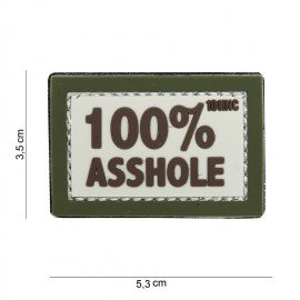 PVC 3D Patch 100% Asshole Desert & OD (101 Inc)