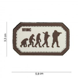 Patch in PVC 3D Airsoft Evolution Desert & Brown (101 Inc)