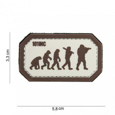 101 INC Patch 3D PVC Airsoft Evolution Desert & Marron (101 Inc) AC-WP4441003924 Patch en PVC