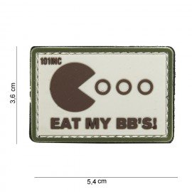 Patch in PVC 3D Eat My BB's Desert (101 Inc)
