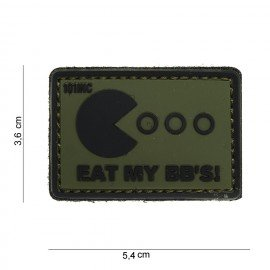 Patch 3D in PVC Eat My BB's OD (101 Inc)