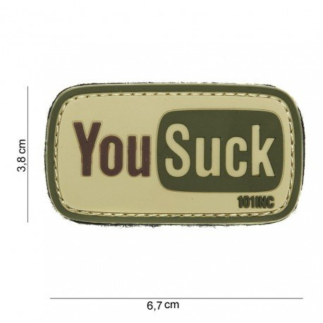 101 INC Patch 3D PVC You Suck OD (101 Inc) AC-WP4441003941 Patch en PVC