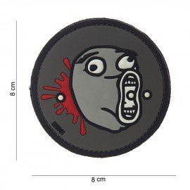 101 INC 3D Patch PVC LoL Gray Face (101 Inc) AC-WP4441303843 PVC Patch