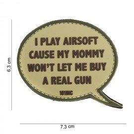 Parche de PVC 3D juego Airsoft Desert (101 Inc)