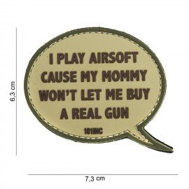 Patch 3D PVC I play Airsoft Desert (101 Inc)