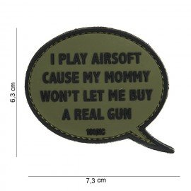101 INC 3D PVC Patch I play Airsoft OD (101 Inc) AC-WP4441303878 PVC Patch