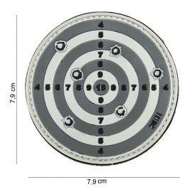 Parche de objetivo gris PVC 3D (101 inc.)