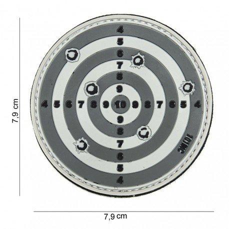 101 INC Patch 3D PVC Cible Grise (101 Inc) AC-WP4441303888 Patch en PVC