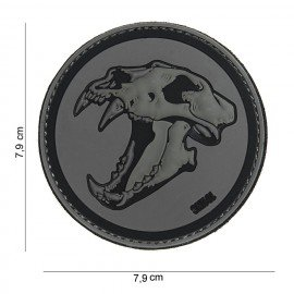 Patch 3D PVC Skull Tigre Gris & Noir (101 Inc)