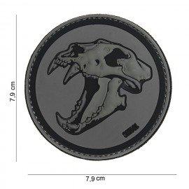 PVC 3D Patch Skull Tiger Grey & Black (101 Inc)