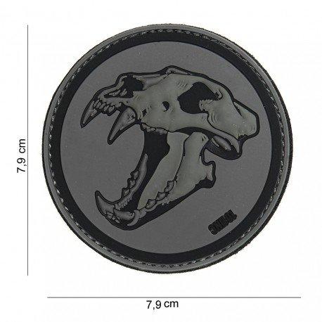 101 INC Patch 3D PVC Skull Tigre Gris & Noir (101 Inc) AC-WP4441303895 Patch en PVC