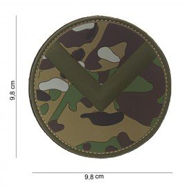 PVC 3D Patch Spartan Shield Multicam (101 Inc)