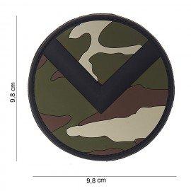Parche de bosque 3D Spartan Shield de PVC (101 inc.)