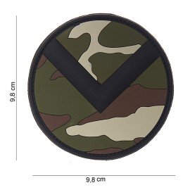 Patch in PVC 3D Spartan Shield Woodland (101 Inc)