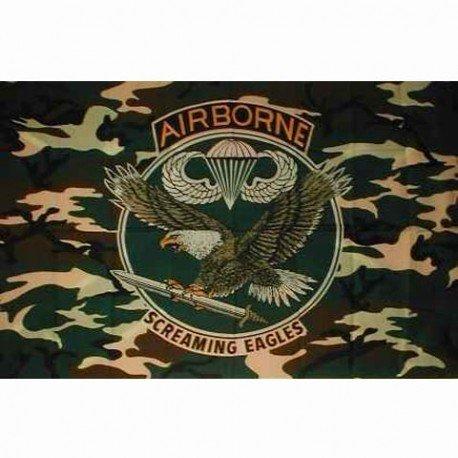 101 INC Drapeau Airborn Camouflage 150x100 cm HA-WP447200144 Drapeau